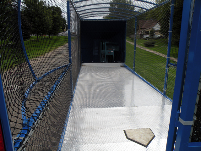 Inside the Strike Zone mobile batting cage